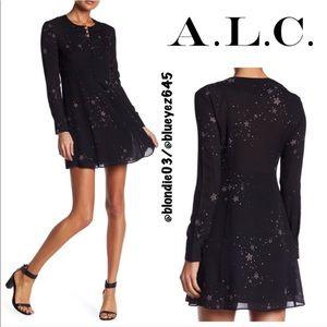 """A.L.C. """"Carmen"""" star print mini dress 4"""